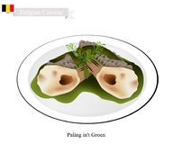 Paling in`t Groen, A Popular Dish in Belgium Royalty Free Stock Photo