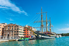 The Palinuro moored in the Giudecca Canal Stock Images