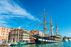 The Palinuro moored in Venice Italy Royalty Free Stock Photo