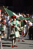 Palio二锡耶纳- 2003年7月 免版税库存照片