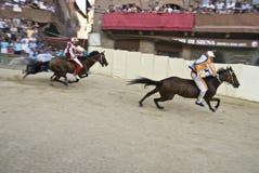 Palio des Siena-Siegers Liocorno Lizenzfreie Stockfotos