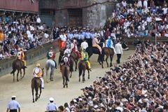 Palio di Siena Fotografie Stock Libere da Diritti