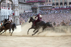 Palio di Siena royaltyfri fotografi