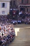 Palio-Di Siena - Juli 2003 Stockbild
