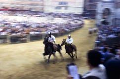Palio-Di Siena - Juli 2003 Stockbilder