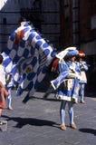 Palio di Siena - juli 2003 fotografering för bildbyråer