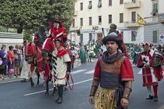Palio i Arezzo Arkivbilder