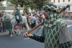 Palio i Arezzo Arkivfoton