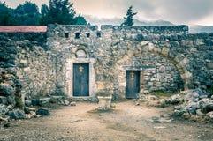 Palio Pili ruins, Greece Stock Photos