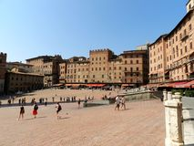Palio place in Siena Stock Images