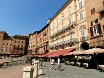 Palio place in Siena Stock Photography