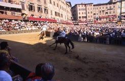Paliodi Siena - juli 2003 Royalty-vrije Stock Foto's