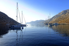 Palionisos bay on Kalymnos island Royalty Free Stock Image