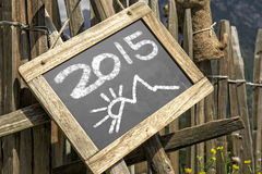 Palisade chalkboard mountains 2015 Royalty Free Stock Photography
