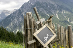 Palisade chalkboard mountains Royalty Free Stock Photos