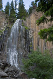 Palisade Flow. Water flowing smoothly over Palisade Falls near Bozeman Montana Royalty Free Stock Images