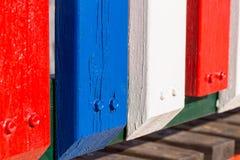 Palisade gemalt am Strand Stockbilder