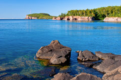 Palisade head, tettegouche shoreline Royalty Free Stock Image