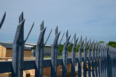 Palisade Metal Security Fence Royalty Free Stock Photography