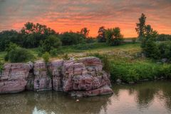 Palisade-Nationalpark ist in South Dakota durch Garretson stockbilder