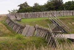 Palisades in Dänemark Stockfotografie