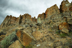 Palisades rocks, Clarno Unit of John Day Fossil Beds Royalty Free Stock Photos