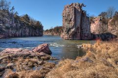 Palisades State Park is in South Dakota near the Town of Garrets Stock Photo