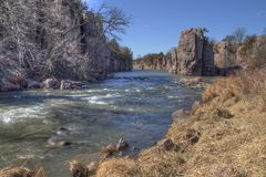 Palisades State Park is in South Dakota near the Town of Garretson Royalty Free Stock Images