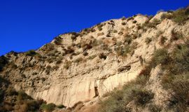 Palisades Trail Geology. Geology on the Palisades Trail, Porter Ranch, CA Stock Photos