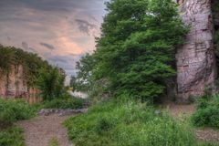 Palissaddelstatsparken är i South Dakota vid Garretson royaltyfria bilder