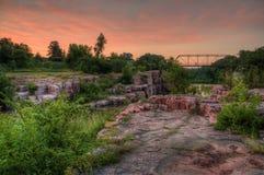 Palissaddelstatsparken är i South Dakota vid Garretson fotografering för bildbyråer