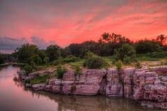 Palissaddelstatsparken är i South Dakota vid Garretson arkivfoto