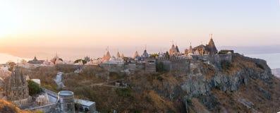 Palitana (Bhavnagar district), Gujarat, India. Jain temples on top of Shatrunjaya hill. Palitana (Bhavnagar district), Gujarat, India royalty free stock photo