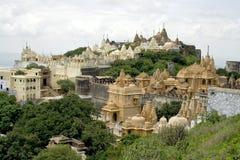 PALITANA-City of Temples. The Jain Temples on Mount Shatrunjaya Near Palitana in Gujarat, India Royalty Free Stock Image