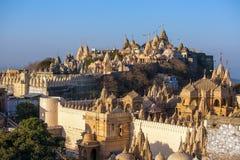 Palitana i Gujarat, Indien arkivbild
