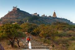 Palitana temple royalty free stock photography