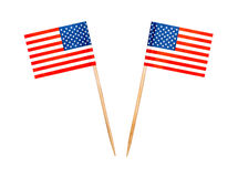 Palitos da bandeira dos EUA do alimento Foto de Stock