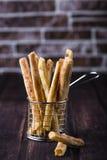Palitos de queijo com pimentão e tomilho Foto de Stock