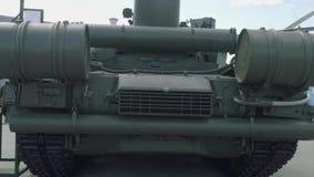 Paliwo banki batalistyczny zbiornik T-72B3 Tylny widok zbiornik na expo 2018 zbiory