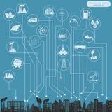 Paliwo i przemysł energetyczny infographic, ustawiamy elementy dla tworzyć royalty ilustracja
