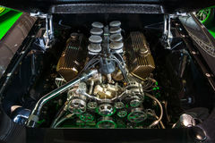 Paliwo wstrzykiwał 460 dużych bloków Ford silnik 550 HP, 7,5L Ford Mustang, 1967 Zdjęcie Royalty Free