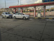 Paliwowa stacja w Irak zdjęcia royalty free
