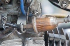 Paliwowego filtra motocyklu nafciany filtr, benzyna Zdjęcie Royalty Free