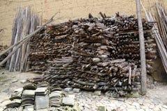 Paliwowy drewno obrazy royalty free
