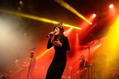 Paliwowy fandango w koncercie przy Apolo (elektroniczny, boj, fuzja i flamenco zespół,) fotografia stock