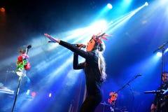 Paliwowy fandango wykonuje przy Apolo (elektroniczny, boj, fuzja i flamenco zespół,) obrazy stock