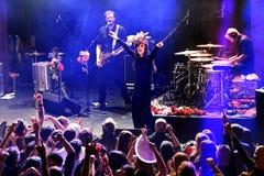 Paliwowy fandango wykonuje przy Apolo (elektroniczny, boj, fuzja i flamenco zespół,) obraz stock