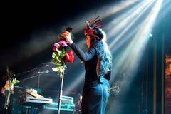 Paliwowy fandango wykonuje przy Apolo (elektroniczny, boj, fuzja i flamenco zespół,) (miejsce wydarzenia) fotografia stock