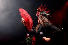 Paliwowy fandango wykonuje przy Apolo (elektroniczny, boj, fuzja i flamenco zespół,) (miejsce wydarzenia) Zdjęcia Royalty Free