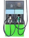 Paliwowy nozzle dodawać paliwo w samochodzie przy benzynową stacją Odizolowywający na bielu Obraz Royalty Free